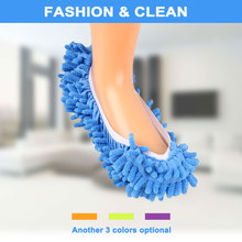 Dust Cleaner Slippers Bathroom Floor Mop Sweeper Slipper Lazy Soft Shoes(China)