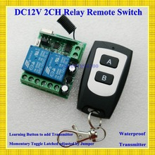 Free Shipping DC 12V 2CH Mini Remote Switch 10A Relay Contact NO COM NC Wireless Switch Lighting Button Power Line Remote ON OFF