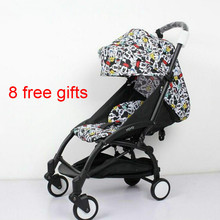 11 gifts Portable baby stroller can sit lying folding four wheel cart summer wagon baby carriage Infant trolley buggies(China)