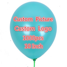 1000 pcs 10 inch Personalized Custom Balloons Logo Print Latex Balloons For Party Advertising Wedding Event Party Suppliers(China)