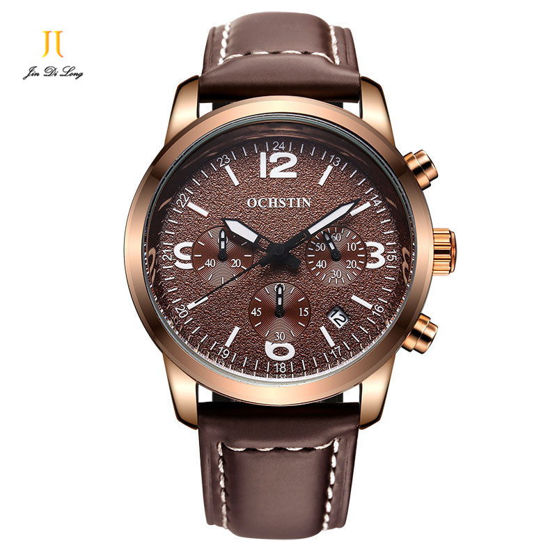 2018 Luxury Brand Men Sports Watches Mens Quartz Hour Day Date Clock Male Casual Watch Leather Strap Army Military Wrist Watch<br>
