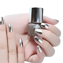 7ml Beauty Silver Flare Nail Polish Base Coat Peel Off Metal Nail Varnish Metallic Manicure Nail Art Polish(China)
