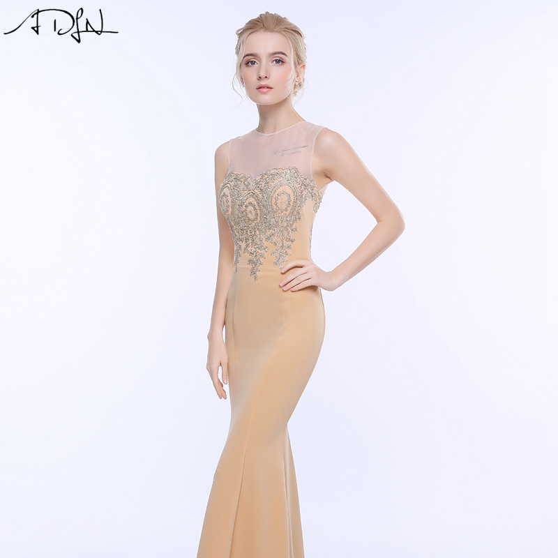 ADLN 2017 Stock Mermaid Evening Dresses Long Formal Royal Blue Party Gowns Cheap Prom Wear robe de soiree longue 15