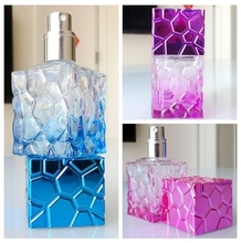 Classic fashion cube glass 30ml perfume spray bottle , 1 ounce glass perfume bottle wholesale,1 oz spray glass bottle wholesale(China)