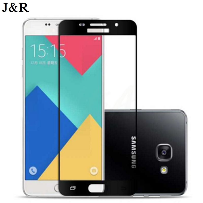 Full Cover Tempered Glass For Samsung Galaxy A3 A5 A7 2017 Screen Protector For Samsung A3 A5 A7 2017 Protective Glass Film