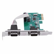 2S 2 Port RS232 RS-232 9PIN Serial Port COM to PCI-E PCI Express Expansion Card Adapter Converter for Office