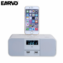 S6 Premium Hotel Home Charger Dock Stand Station 5W x 2 Mini Wireless Bluetooth Music Speaker for iPhone 6/6s 7/7 Plus 5 5S SE