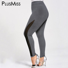Buy PlusMiss Plus Size 5XL Sexy Skinny Mesh Fitness Leggings Women Clothing High Waist Workout Leggins Ladies Big Size Pants 2018 for $11.86 in AliExpress store
