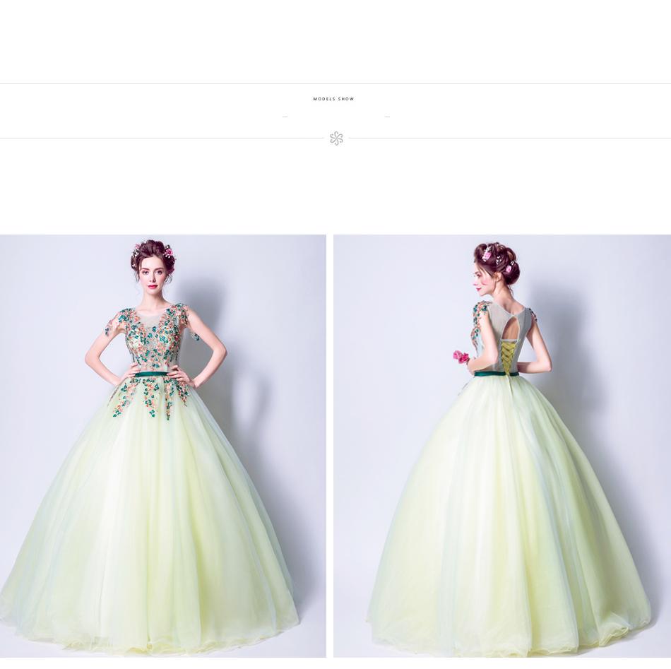 Angel Wedding Dress Marriage Bride Bridal Gown Vestido De Noiva 2017 Green, embroidery, the wizard of Oz 2217 18