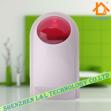 Wired Outdoor Flash Alarm Siren Waterproof Red Strobe Light Siren for Security System