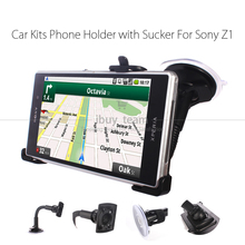 for Sony Xperia Z1 L39H 360 Degree Rotating Adjustable Car Windshield Holder C6903 C6902 Stand Kits Black with Retail Packing
