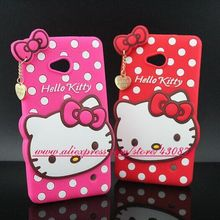 For Nokia Lumia 640 Case HOT 3D Silicon Hello Kitty Soft Cell Phone Back Skin Cover for Nokia Lumia 640