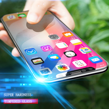 GULYNN 9H HD Clear Front Tempered Glass For iphone X 7 8 Plus 6 6s 5 5S SE Screen Protector Protective Glass Film 2.5D Cruved(China)