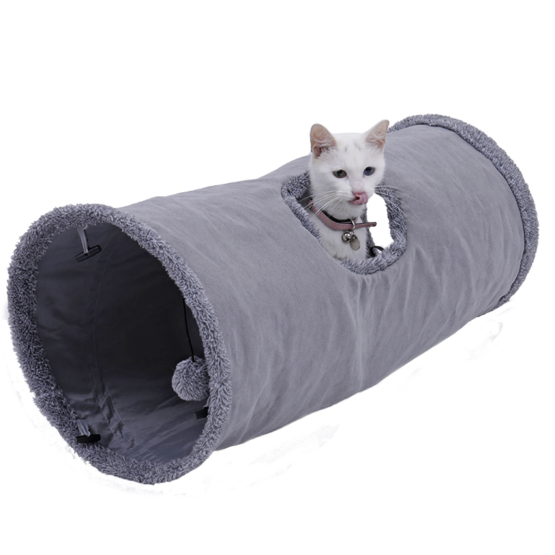 big cat tunnel Big Long Cat Tunnel with Play Ball Suede Material-Free Shipping HTB16QN9qrsTMeJjSszdq6AEupXam