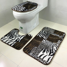 Hot Sale New qualified fashional 3pcs/set Bathroom Non-Slip Blue Ocean Style Pedestal Rug + Lid Toilet Cover + Bath Mat