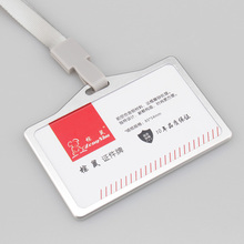 Fashion work permit ID card holder Exhibition identification card cover Unisex Aluminium alloy metal staff badge for colleagues