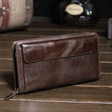 2016 New Fashion Genuine Leather Men Wallet Women Purse Leather Coin Holder Money Clip Wallet Purses Man Clutch Bag Wholesale