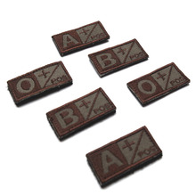 Woodland Olive Green Black Military Blood Type A+ B+ AB+ O+ Positive A- B- AB- O- Negative Hook Patch Armband Badges 5*2.6CM
