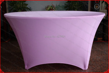 Lilac Color Lycra/Spandex Table Cover/Tablecloth/Table Runner/Chair Cover for Wedding/Hotel/Banquet/Party/Home decor&textile