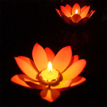 1PC Random Color Delivery Decorative Flower Light Outdoor Floating Lotus Light Pool Pond Garden Water Hot Sale