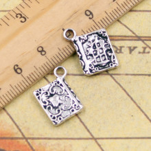 10pcs Charms book holy bible 17*11mm Tibetan Silver Plated Pendants Antique Jewelry Making DIY Handmade Craft(China)