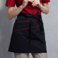 4 Colors Half Length Poly Cotton Apron Barista Bartender Waiter Cafe Chef Uniform Restaurant Baker Waitress Kitchen Workwear B69