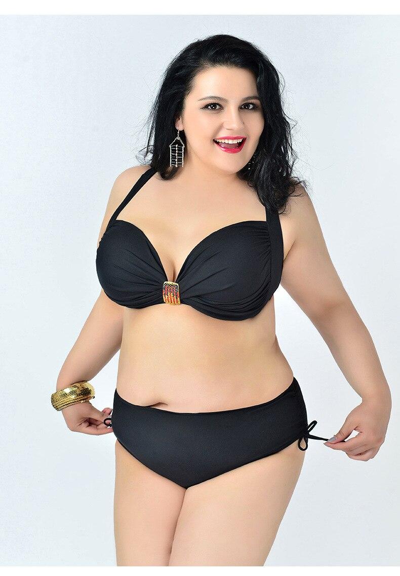 2017 Women Push up Bikini plus size swimwear Beach bathing suit Two piece Swimsuit Sexy Sling Lacing Bikinis elasticity Biquini<br><br>Aliexpress