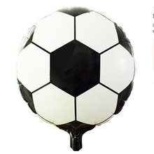 "20pcs Free Shipping 18"" Round Soccer/Football  Inflatable Toys For Children Games Kids Happy Birthday Party Decorations"