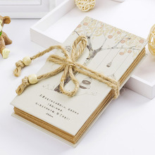 2015 new  recipe book gift for grandmother Handmade DIY Vintage Photo Album with rope  hot sale