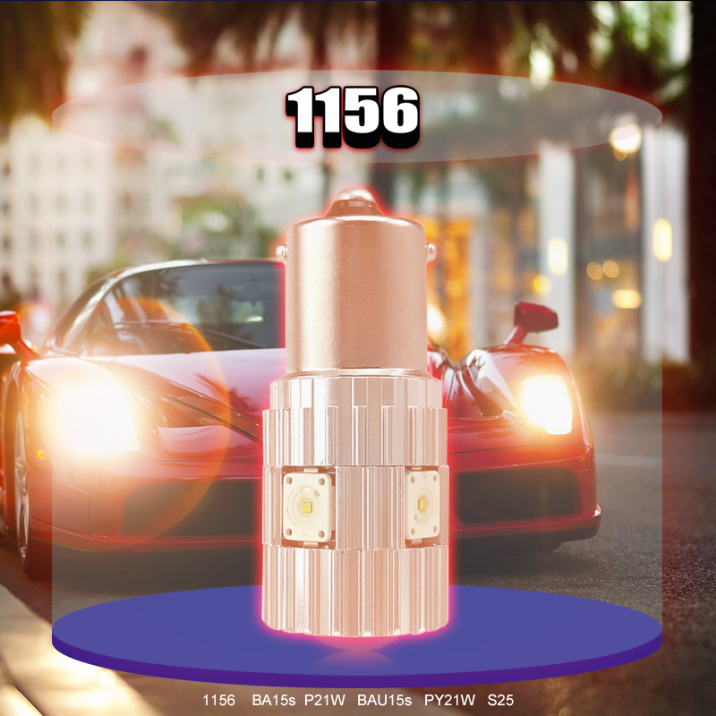 CNSUNNYLIGHT 2pcs 1156 LED BA15S P21W BAU15S PY21W S25 5Osram Chips 6000K White DRL Car Tail Fog Bulbs Brake Light Reverse Lamp (10)