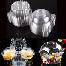 100 PCS/Set Plastic Single Cupcake Muffin Holders Cake Cases Boxe Cups Pods Party Cupcake Holders Boxes Pods