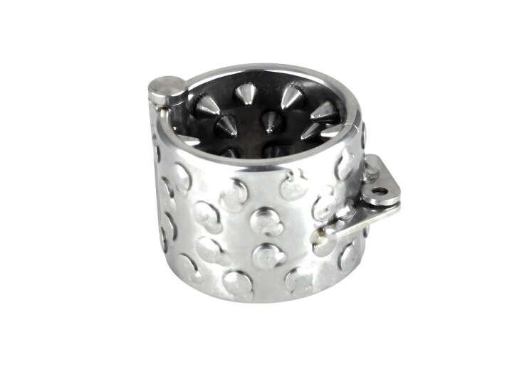 Stainless steel Kalis Teeths(4 Rows) Ring Scrotum Pendant Male Chastity Device penis rings male chastity cage metal penis ring<br>