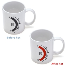 Color Changing 480ml Novelty Coffee Mug Gauge Tank Cup Heat Cold Sensitive Tea Beer Mug Cup Breakfast Milk Cup Funny Gift