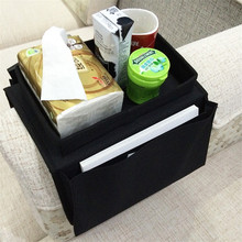 Magazine organizer Sofa arm rest organizer Couch  handrail armrest  phone remote holder Polyester Sofa storage bag Hanging bags