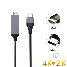 2M USB C to HDMI Cable USB 3.1 Type-C to HDMI Converter 4K 30Hz HD Extend Cable/Adapter for Macbook Samsung S8(China)