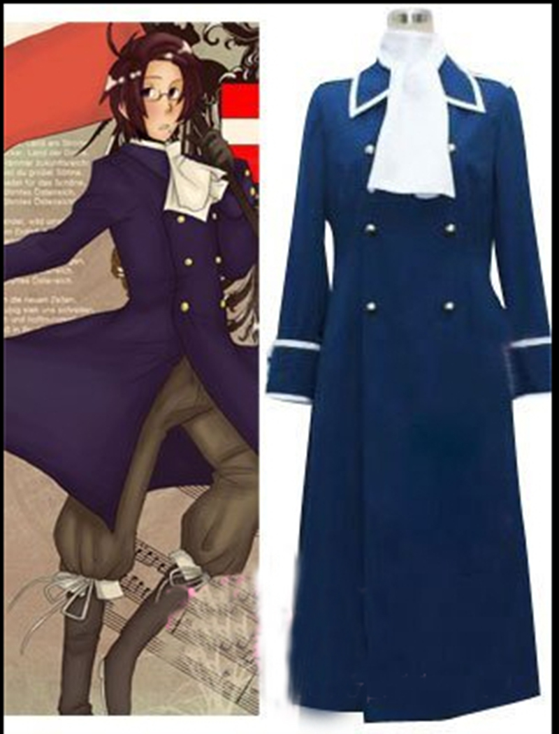 Hetalia Cosplay Costumes Hetalia Axis Powers Austria Cosplay Costume coat+scarf