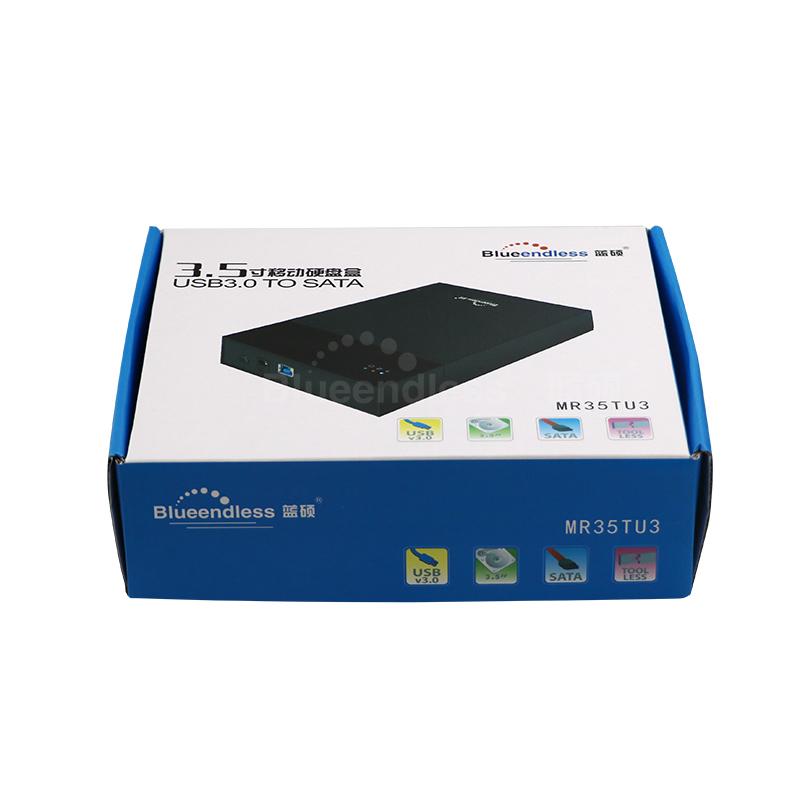3pcs USB 3.0 to sata hard disk case 3.5 inch hdd ssd enclosure tool free plastic hdd (4)
