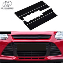 For Focus 3 grille sticker Intake grills cover carbon fiber Inferior smooth black style decoration accessory