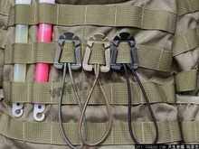 EDC Gear 2Pcs/lot ITW Webdom Web Dominator Molle Backpack Carabiner, EDC Tool, Elastic Rope Webbing Buckle Winder