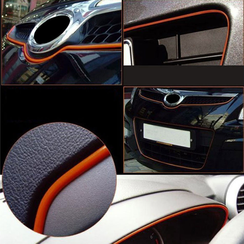 Universal 5M Line Car Auto Interior Decor Blue Point Edge Gap Door Panel Molding