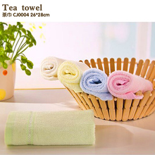 New  Baby Towel   4 pieces/ Lot   26*28cm Bamboo Hand Towel Baby Face Cloth Plain Dyed Children Bibs Soft Towels