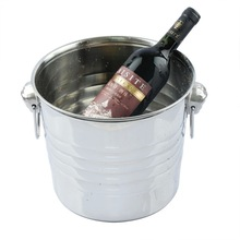 Hot selling Durable Home Bar Stainless Steel Cubes Barrel Ice Container Barrel Beer Champagne Wine Cooler