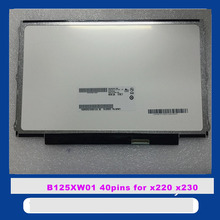 12.5 inch for FOR LENOVO U260 K27 K29 X220 X230 LTN125AT01 LP125WH2 TLB1 B125XW01 LCD Display Panel Replacement part lcd screen(China)