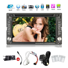 Free Camera+Double 2 din In dash Car gps Radio Stereo GPS Navigation Bluetooth Car DVD CD MP3 Video Player PC Head Unit iPod AUX
