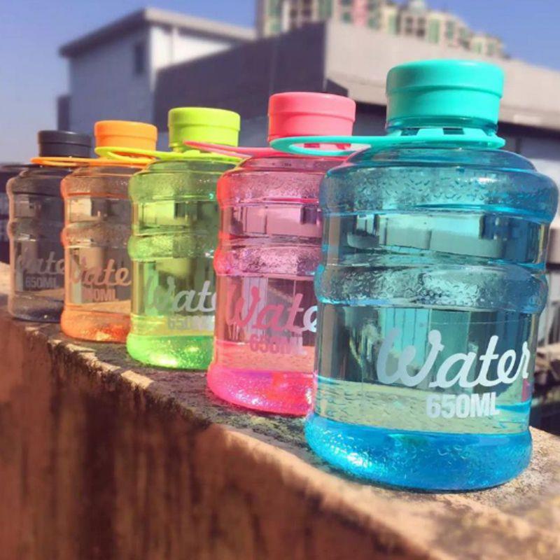0.5L//1L Portable Big BPA Free Sport Gym Training Drink Water Bottle Cap Kettle