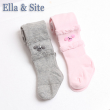 2 pieces/lot Children's clothing kids girls tights solid cotton tights for girls 2017 new arrival Spring & Autumn baby clothes(China)