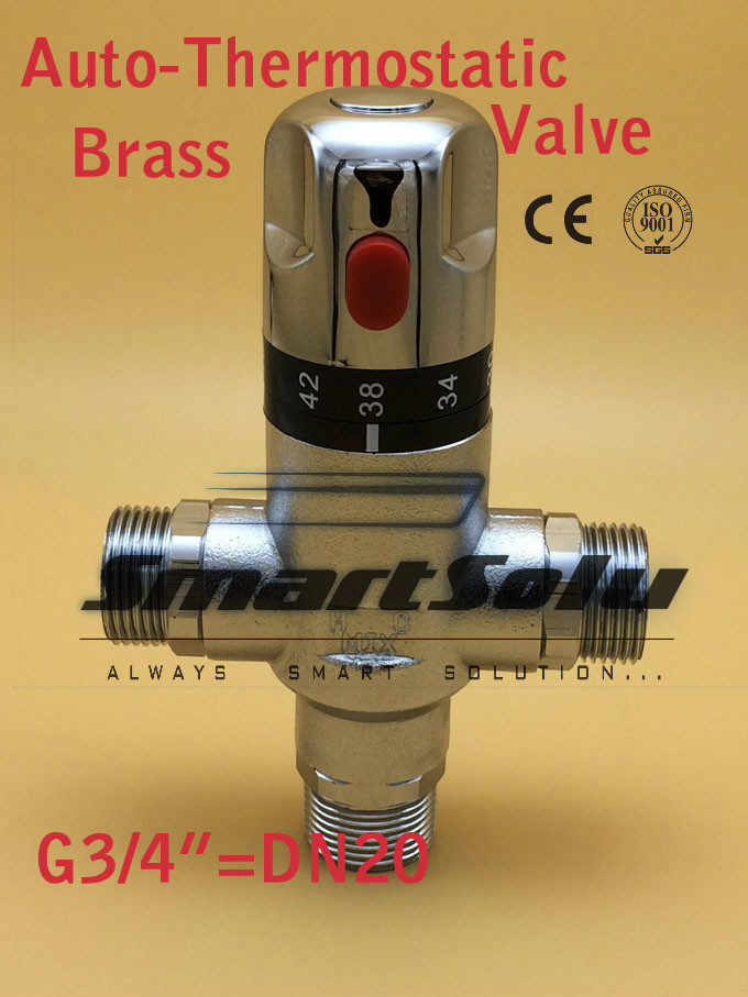 Free Shipping G3/4(DN20)Thermostatic Mixing valve, Auto-Thermostatic valve,Intelligence Temperature control valve<br>
