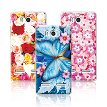 Floral Art Painted Flower Case For Huawei Honor 2 U9508 U8950D Ascend G600 Case Cover For Huawei U9508+Free Stylus Gift