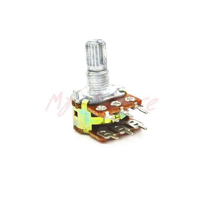 6Pin WH148 B500K Ohm Linear Dual Taper Rotary Potentiometer 5Pcs 500K<br><br>Aliexpress
