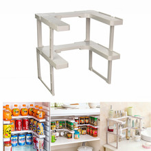 2 Layer Pantry Pan Pot Organizer Kitchen Stackable Shelving Spice Rack